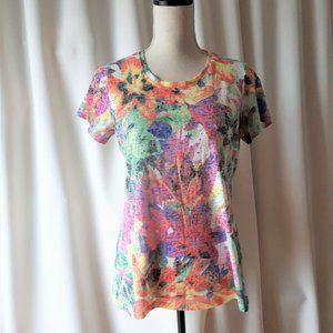 *2/$14* Hannah Embellished Pink T-Shirt Size S